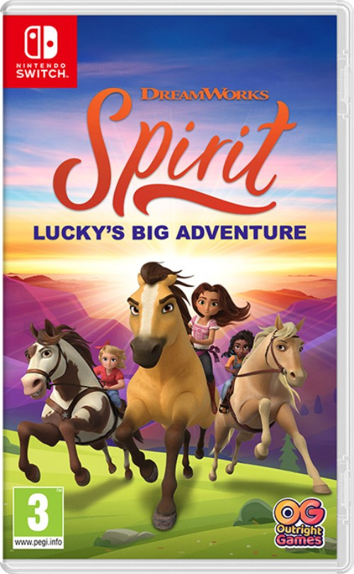 DreamWorks Spirit Lucky's Big Adventure switch box art