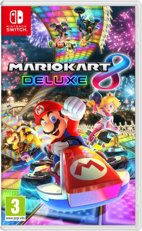 Mario Kart 8 Deluxe switch box art