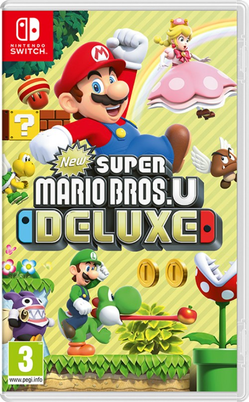 New Super Mario Bros. U Deluxe switch box art