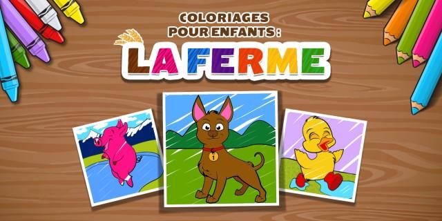 Image de COLORIAGES POUR ENFANTS : LA FERME (KIDS: FARM COLOURING)