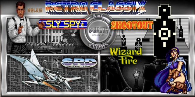 Image de Retro Classix 4in1 Pack: Sly Spy, Shootout, Wizard Fire & Super Real Darwin