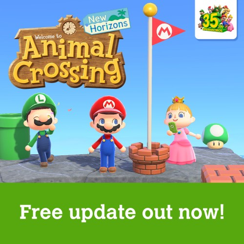 Super Mario Bros. themed items available now in Animal Crossing: New Horizons!