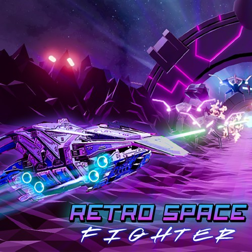 Retro Space Fighter switch box art