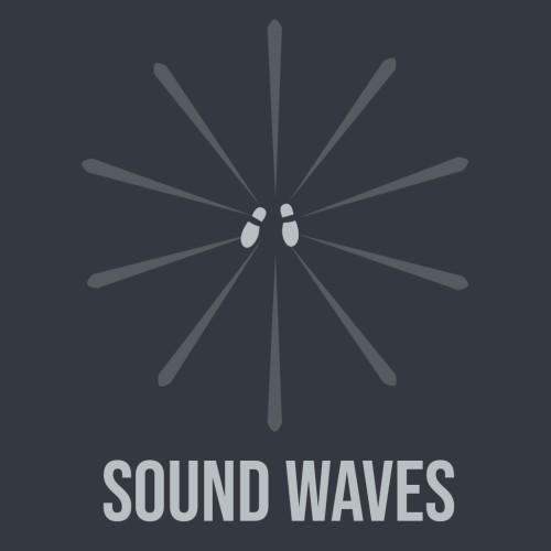 Sound waves switch box art