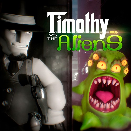 Timothy vs the Aliens switch box art