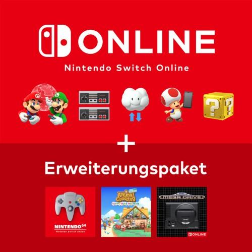 Entdecke Nintendo Switch Online + Erweiterungspaket